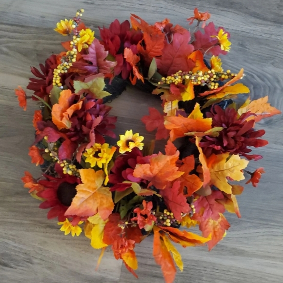 Dj's Faux-ever Flowers Other - Fall Harvest Wreath
